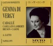 DONIZETTI - Gatto - Gemma di Vergy (Live Napoli 12 - 12 - 1975) Live Napoli 12 - 12 - 1975