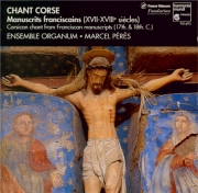 Chant corse (manuscrits franciscains XVII-XVIIIe S)