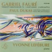 FAURE - Lefébure - Thème et variations pour piano en ut dièse mineur op