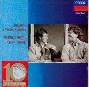 BRAHMS - Amoyal - Sonate pour violon et piano n°1 en sol majeur op.78