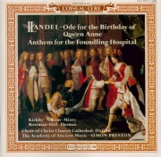 HAENDEL - Preston - Ode for the birthday of Queen Anne HWV.74 (aussi 'Et