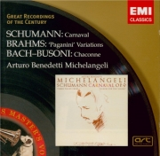 BUSONI - Michelangeli - Chaconne d'après la Partita n°2 de Bach BWV.1004