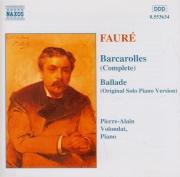 FAURE - Volondat - Barcarolle pour piano n°1 en la mineur op.26