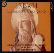 BACH - Ristenpart - Wachet auf, ruft uns die Stimme, cantate pour solist
