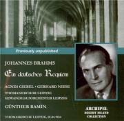 BRAHMS - Ramin - Ein deutsches Requiem (Un Requiem allemand), pour solis Live Leipzig, 1 - 4 - 1954